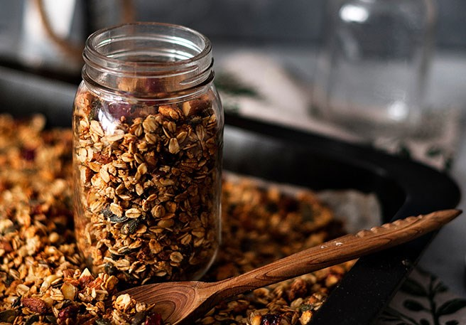 Křupavá granola s nízkým obsahem histaminu